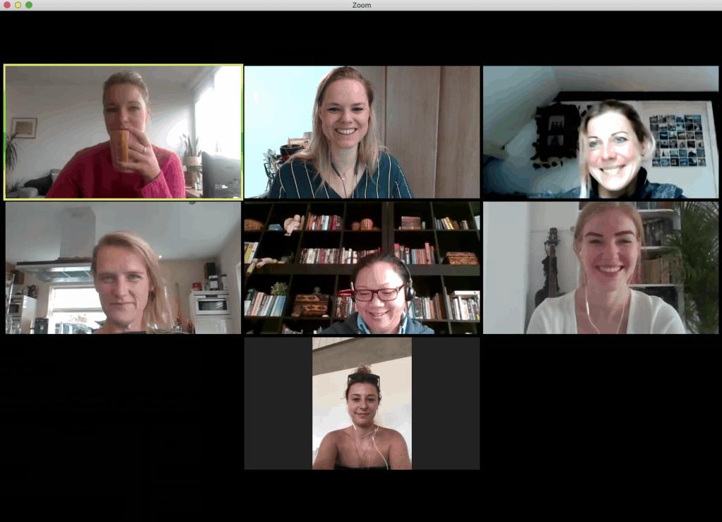 communicatie virtuele business team